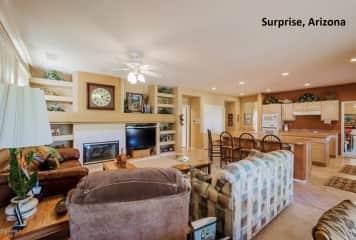Kitchen and family room in Arizona