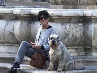 Belinda and Max in Urbino, Italy