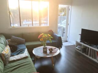 Living room out to deck