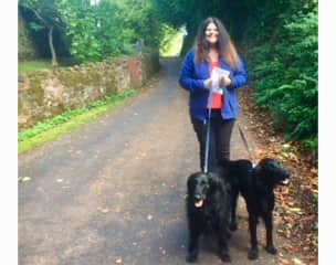 Pauleen with calli and ruby ( stogumber housesit ) see review