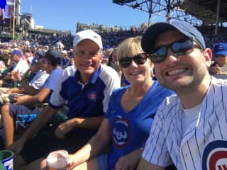 A great afternoon watching the Cubbies!