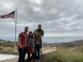 My best friend and her husband visiting our alma mater, Pepperdine University.