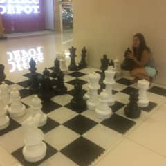 Me in San Jose playing giant chess.
