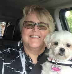 Daisy, my rescue, coming home from TN. We stopped in  Alabama on our way home