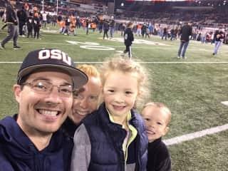 Oregon State University football game. Go Beavers!