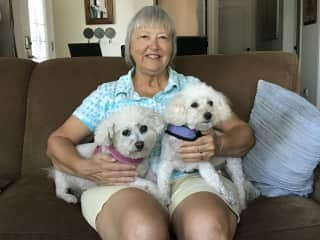 Margie with Daisy and Snowi