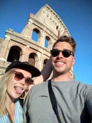 Us in Rome, one of our best trips ever!