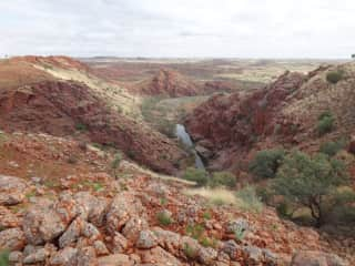 Our camping spot in the rugged Pilbara, Western Australia