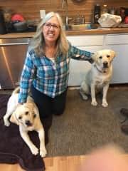 Pauline with Ella and Edison