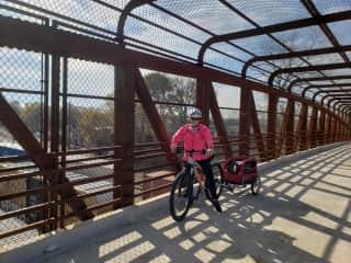 Biking the bulldog around Greenville SC USA