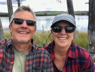 Jan and Mark enjoying an afternoon hike
