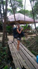 I'm a nomad. It's just me and my backpack!