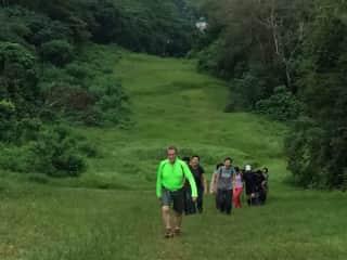 Singapore, Hans on a hike.