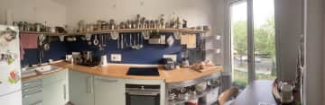 Our kitchen holds most spices there are and comes with a dishwasher and induction hob.