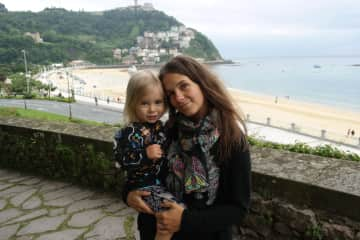 Cecci and Ted in San Sebastian