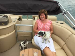 Josie and Farve love their boat rides!