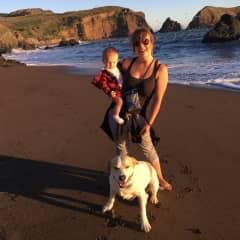 Beach trip with my nephew and Arthur