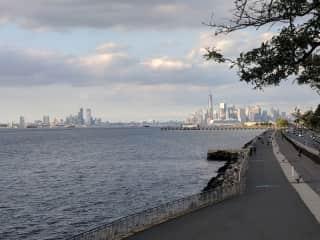 View from Narrow's Park promenade