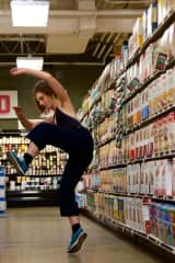 Dancing in my installation project, GROCERY DANCE