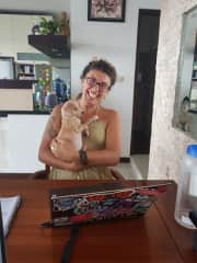 Bondi! An abandoned puppy I fostered in Bali until she was healthy enough for adoption
