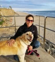 Lisa and Shanti, enjoying a beautiful sunny afternoon at the beach