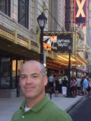 Outside Fox Theater in St. Louis for James Taylor concert