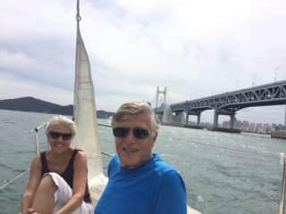 Phil and Marta Sailing in Busan, S. Korea