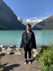A photo of me during a hiking trip in Banff Canada 2019