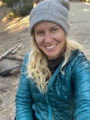 Camping in December in Idylwild California!  Borrow a friend's van and had a solo adventure!