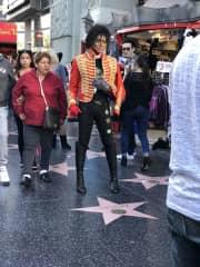 MJ on Hollywood BLVD