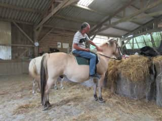 Richard riding a horse
