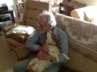 Dick having a snuggle with Timmy