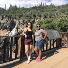 Hiking with best friend at Feather Falls in Oroville, CA