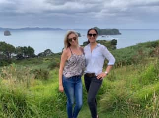 Vicky and Carrie in New Zealand