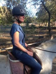 This is me on Holiday in France riding a horse