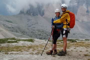 We love mountains and via ferrata