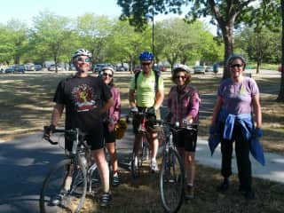 Friends Biking the Katy Trail