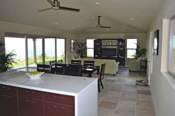 The great room living area