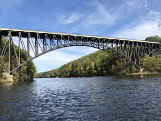 French King Bridge, Hill, MA great kayaking or boating here