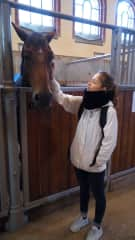 Elisa and one of the Royal Swedish Horse of the Royal Swedish Family in Stockholm