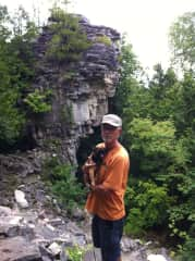 John and Casey walking on the Bruce Trail
