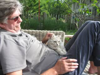 Pieter with Baci in Italy