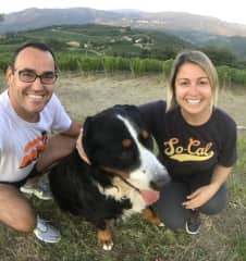 With our friend Baloo in Florence, Tuscany (Aug/2018)