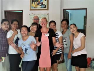 Sharon and Al teaching English in Thailand