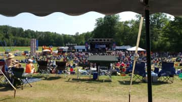 I LOVE music/dancing, this was taken of the stage area at a boogie/blues festival I attend every year!!