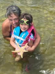 Granddaughter's first snorkeling trip.