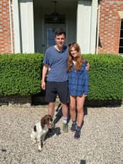 Emelie and Tom with a special pup Lottie!