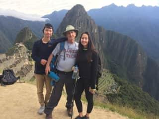 My son, my daughter and I at Machu Picchu.