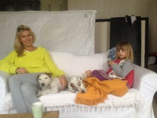 My house, baby and dog sitting for my friends in London :)