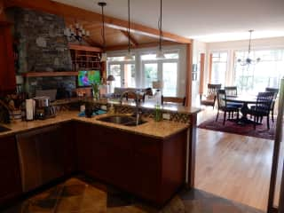 Kitchen to living/dining room